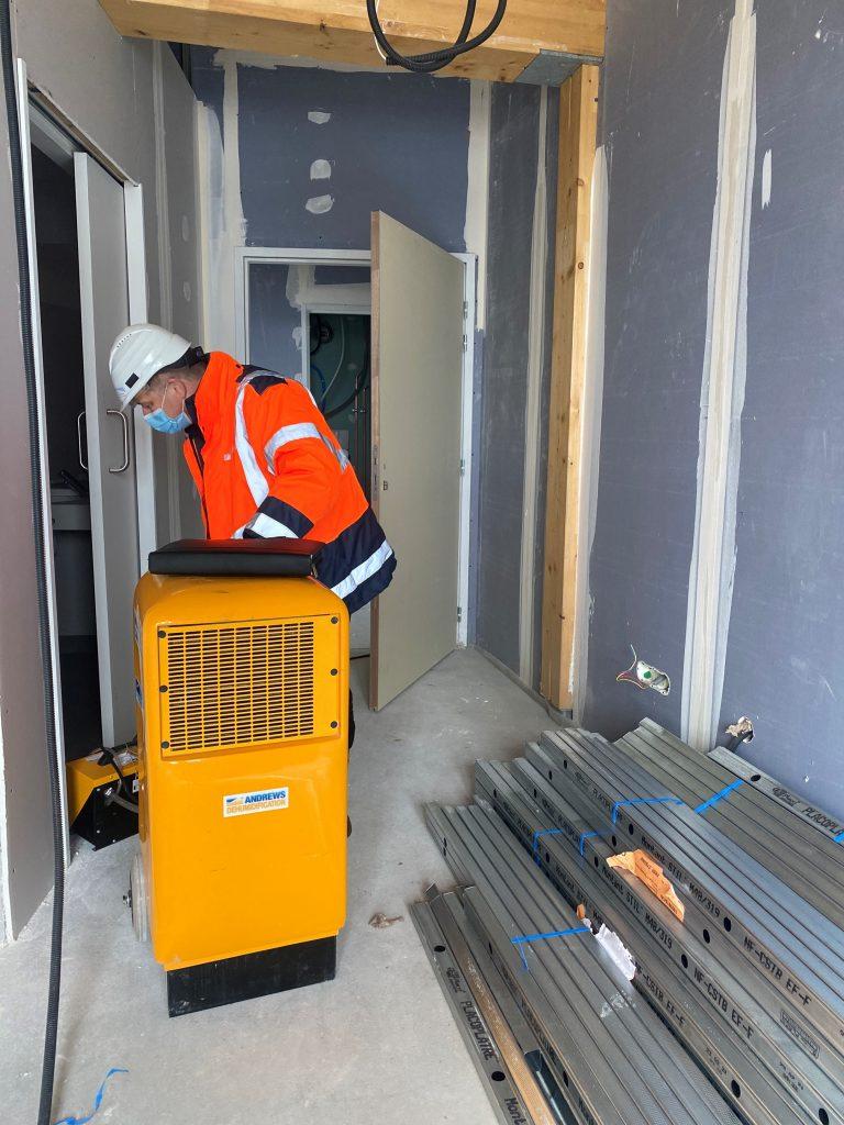 Andrews Sykes Luxembourg intervient sur un chantier de construction pour contrer l'humidité !