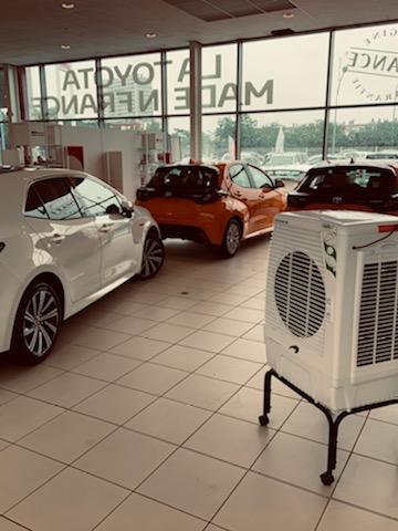 Climatisation pour une concession automobile